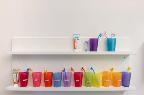 Zahnbürsten der Kinder